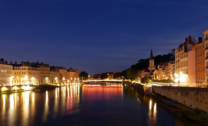Visit of Lyon by-night